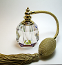 Crystal perfume atomizer bottle