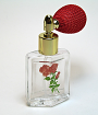 Floral glass bottle
