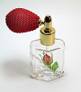 Floral perfume glass bottle