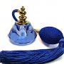 Blue crystal perfume bottle