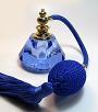 Blue crystal perfume atomizer