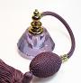 Violet crystal perfume bottle