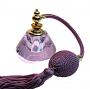 violet perfume atomizer bottle
