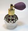 Empty antique perfume atomizer