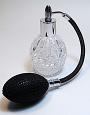 empty perfume bottle with bulb sprayer