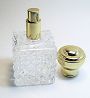 Empty perfume atomizer bottle