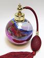 Art glass perfume atomizer bottle