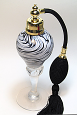 Art glass perfume atomizer bottle
