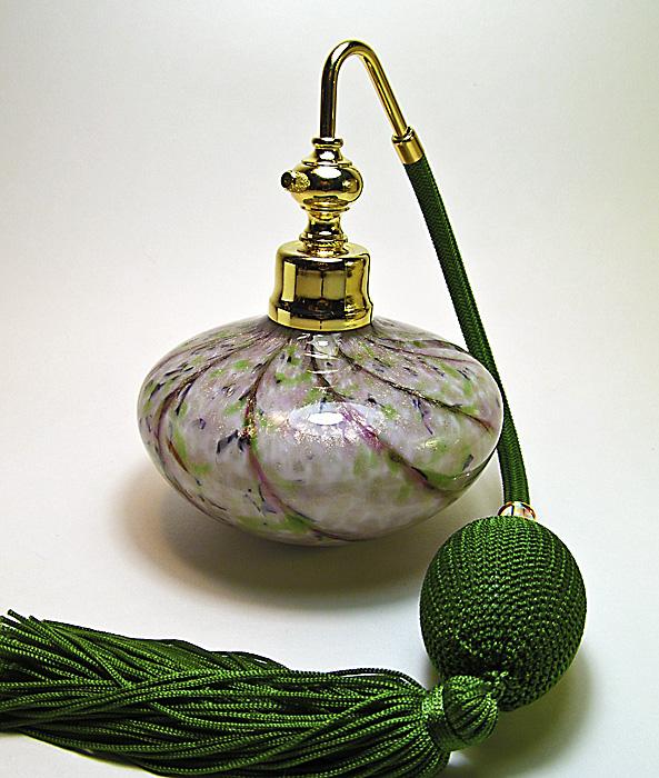 art glass atomizer bottle
