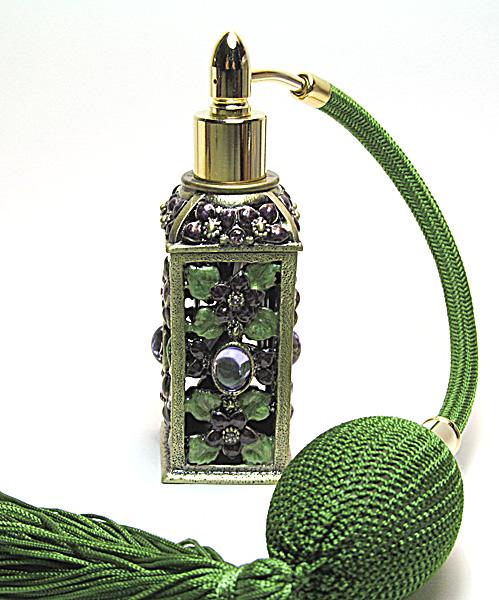Antique perfume atomizer bottles