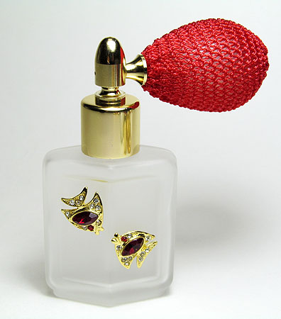 Unique glass perfume bottle