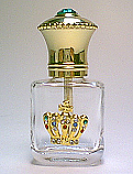 Unique glass perfume bottle