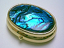 Mother pearl shell pill box