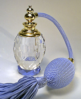 Lead crystal perfume bottle